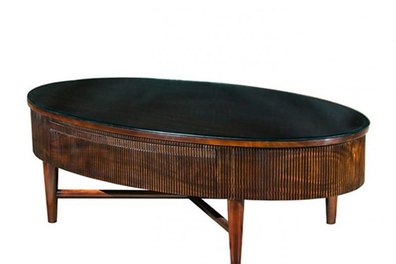 House Haven Coffee Tables 0003 Oval Reeded Coffee Table 1