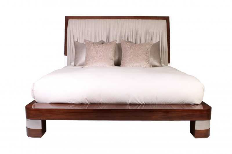 Boat Bed With Deconstructed Pleating
