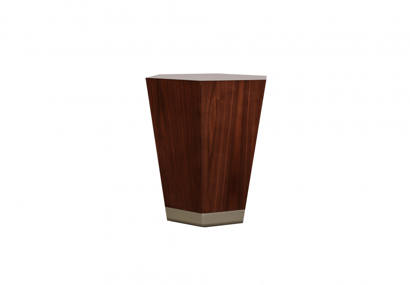 Tapered Hexagon Side Table